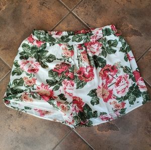 EUC high waist floral shorts